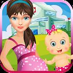 Newborn Baby & Mom Doctor Care Icon
