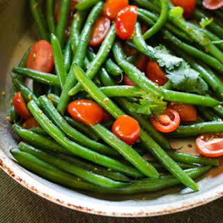Cumin and Cherry Tomato Green Beans.