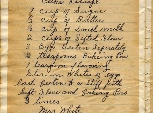 Mrs. White's Cake Recipe
