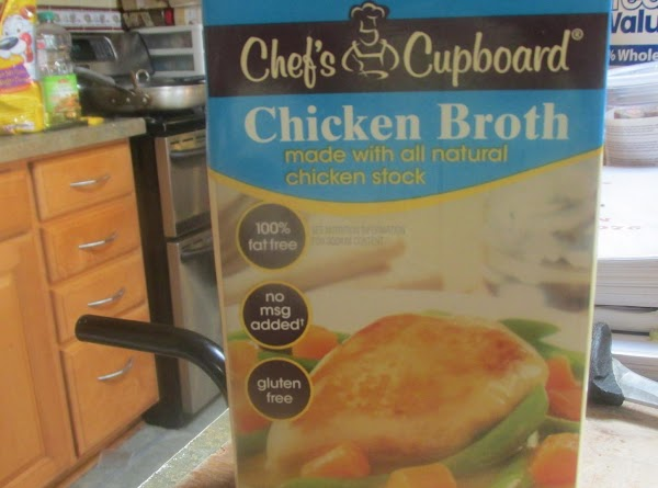 Add about 1 1/2 cups of chicken broth over croutons to soften up just...