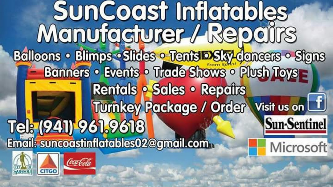 Suncoast Inflatables Manufacturer and Repairs - Display Stand
