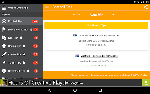 Soccer Tips / Sports Tips by CG Tipster- screenshot thumbnail
