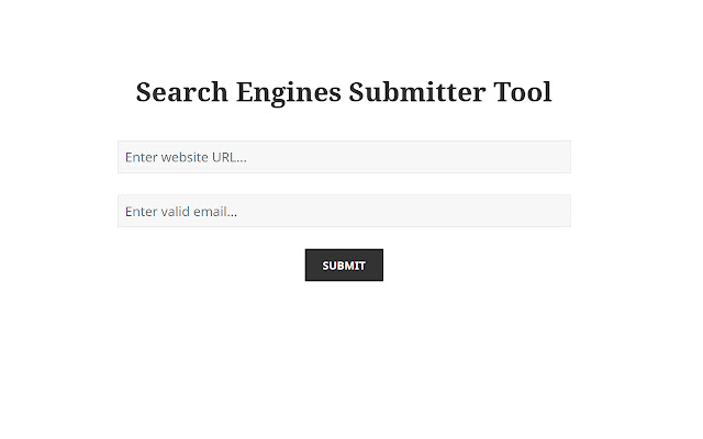Search Engines Submitter Tool