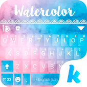 Watercolor Kika Keyboard Theme