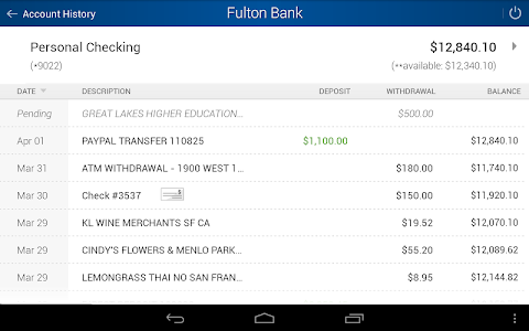 Fulton Bank Mobile Banking screenshot 11