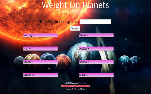 Weight On Planets