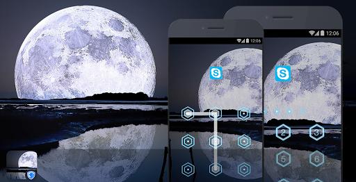 应用锁主题 - 月亮主题