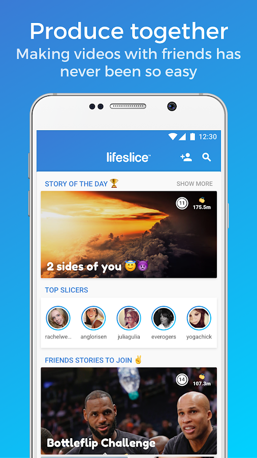 Lifeslice - Create & join videos with friends- screenshot