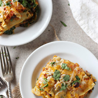 Sweet Potato, Black Bean and Kale Lasagna