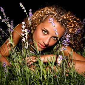 Relax by Sven Rausch - People Portraits of Women ( herbs, woman, green, summer, lavendel, denmark )