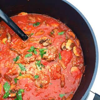 Traditional Italian Meatballs with Sunday Gravy.