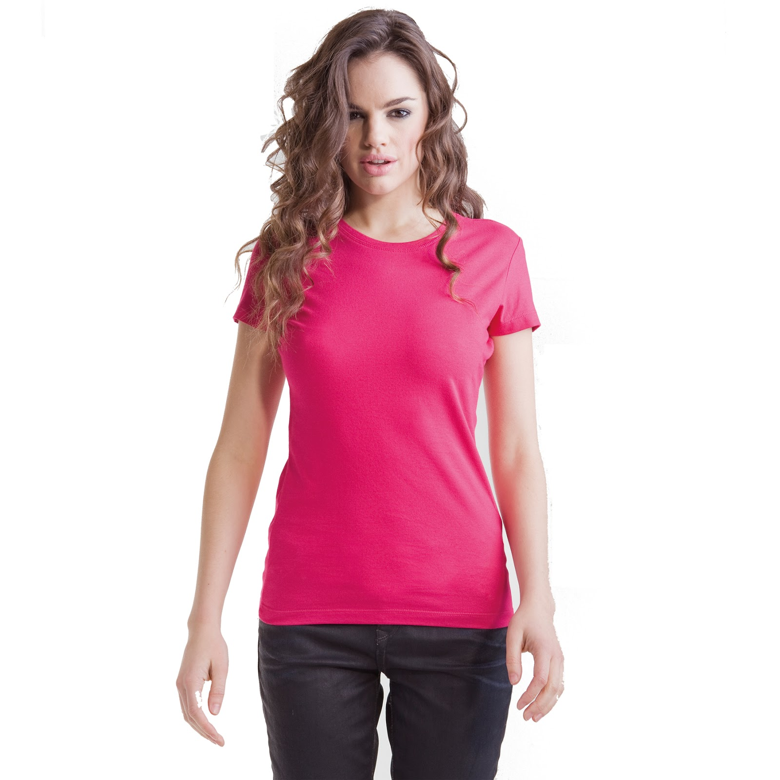 Cotton Ladyfit Crew Neck T-Shirt from Skinnyfit