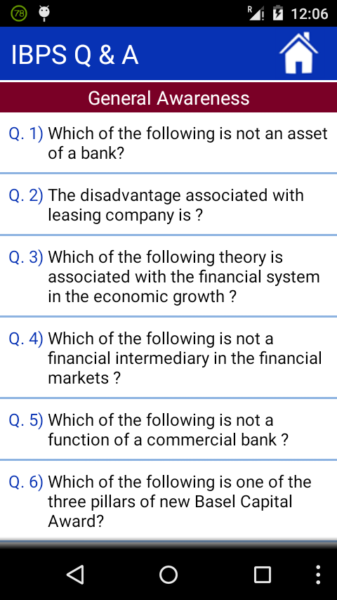 IBPS Questions & Answers- screenshot