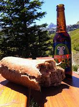 Photo: Pane nero, jambon et fromage montagne, biere basque... et Pic d'Anie!