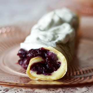 Blueberry Lemon Curd Crepes.
