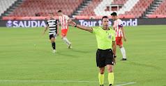 Gálvez Rascón en el partido Almería-Cartagena de la primera vuelta.