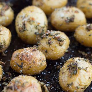 Duck Fat Roasted Garlic Herb Potatoes.