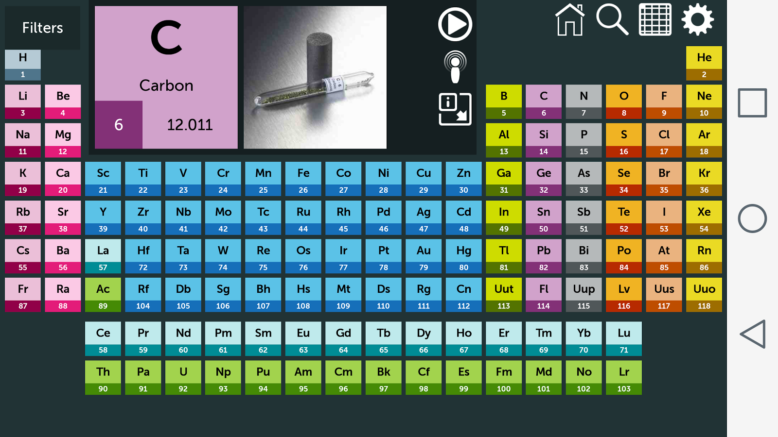 Periodic table android apps on google play periodic table screenshot urtaz