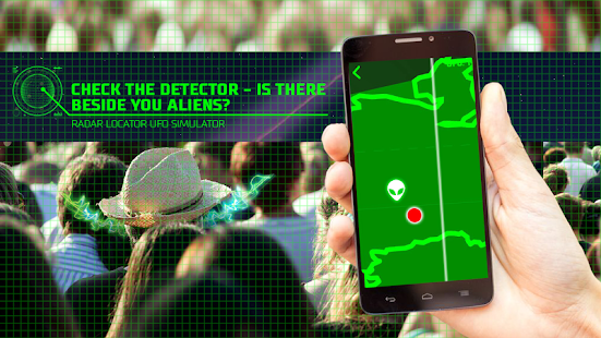 Radar locator UFO simulator screenshot