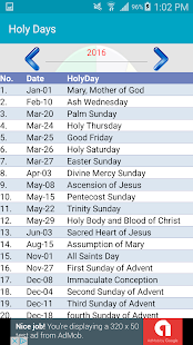 Liturgical Calendar- screenshot thumbnail