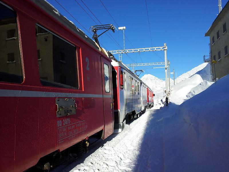 Sosta sul Passo del Bernina di supergigi