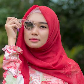 Mufidah by Bastian M - People Portraits of Women ( hijab, sunglasses, beauty, portraits, women )