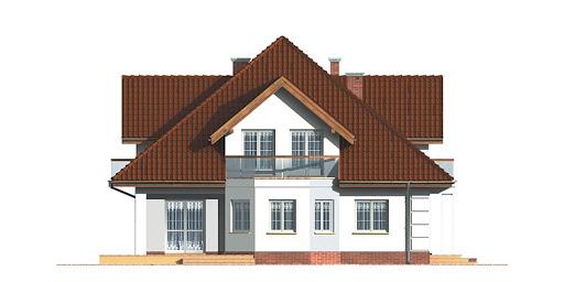 Dom przy Szmaragdowej - Elewacja lewa
