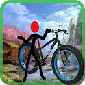 Stick Bicycle Rider icon
