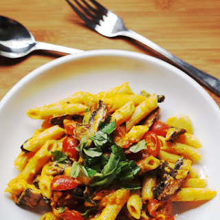 Roasted Vegetables And Pumpkin Pasta