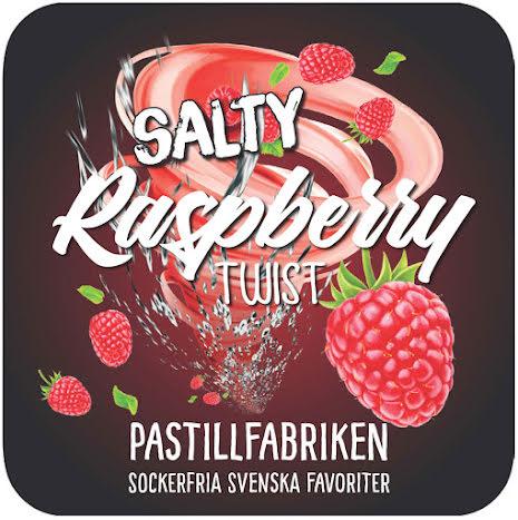 Salty Raspberry Twist – saltlakrits & hallonpastiller – Pastillfabriken