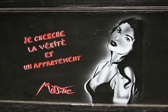Photo: Street art - Miss Tic -Paris XIe - rue de la Roquette
