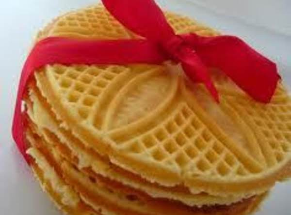 Maple Walnut Pizzelles Recipe