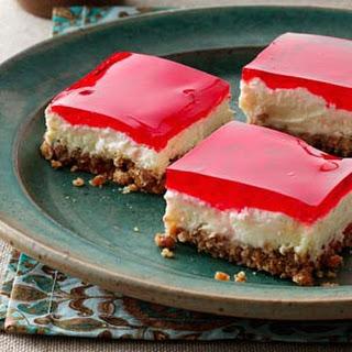 Pretzel Jello Dessert.