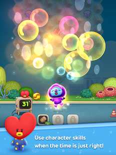 Game LINE HELLO BT21- Cute bubble-shooting puzzle game! APK for Windows Phone