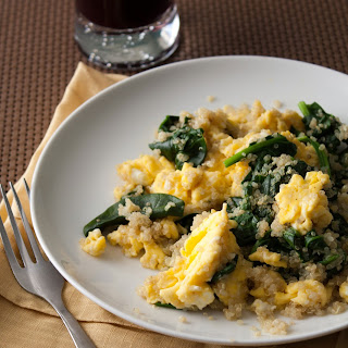 Quinoa Egg & Spinach Scramble.