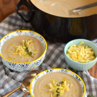 Roasted Cauliflower and Cheddar Soup