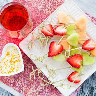 Heart Fruit Skewers and The Best Fruit Dip Ever
