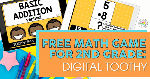 Free Math Game for 2nd Grade: Digital Toothy