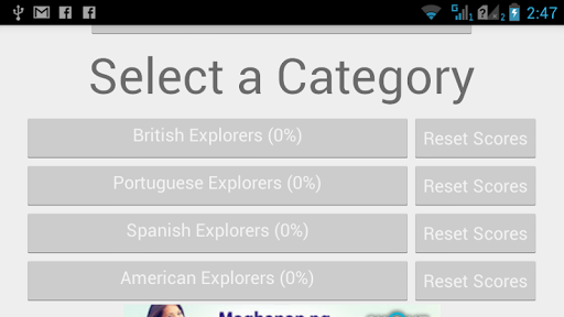 Quiz on Explorers by Country