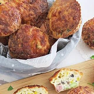 Ham, Mushroom, Corn & Edamame Muffin.