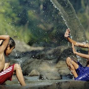 Water war on summer day  by DODY KUSUMA  - Babies & Children Children Candids ( kids playing in summer, indonesia, pwcsummerfun, kids )