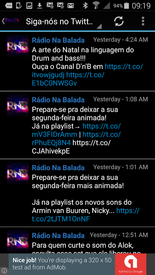 Radio Na Balada Brazil- screenshot