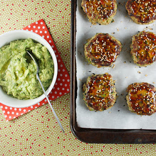Turkey Cakes with Wasabi Guacamole