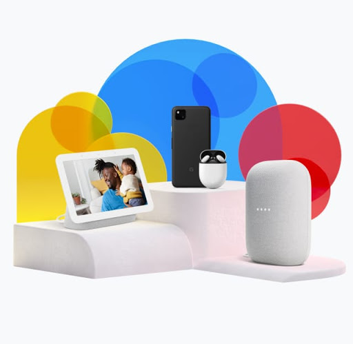 A collection of Google products that are great for dad is on display.