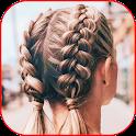 Fashion braids 2021. Fashion hairstyles icon