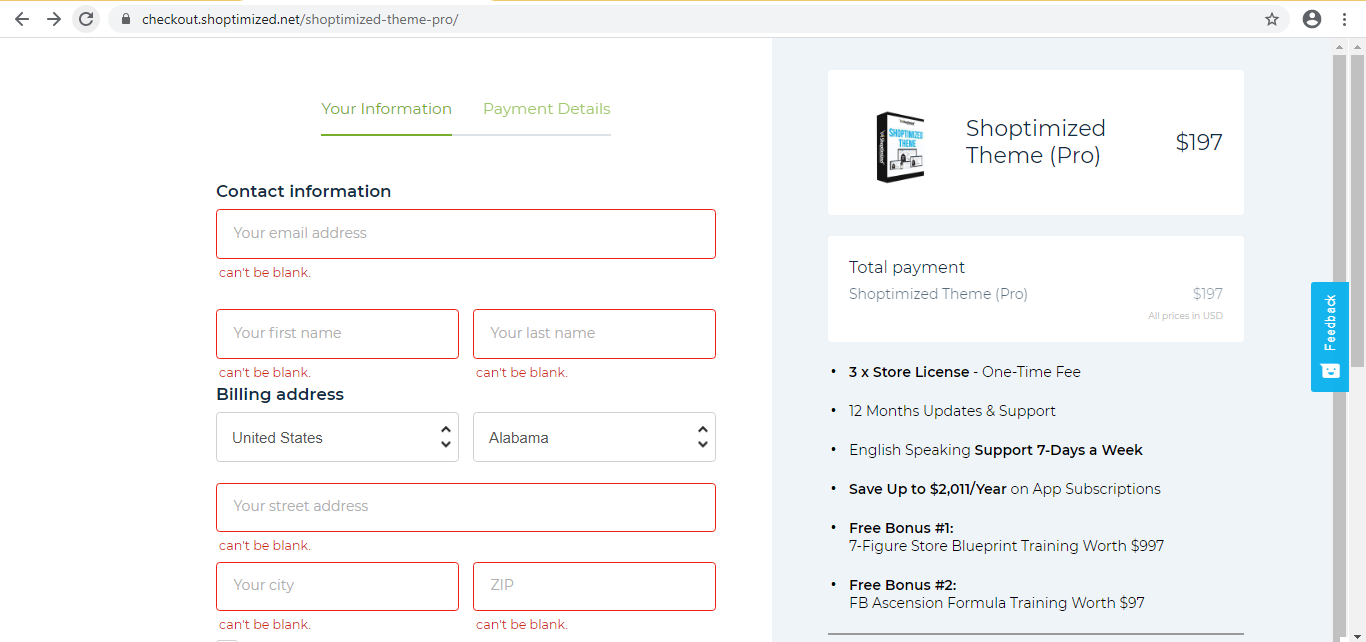 Shoptimized Disocunt Offers | Shoptimized check out page