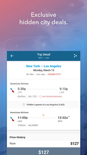 Skiplagged — Exclusive Flights & Hotels screenshot