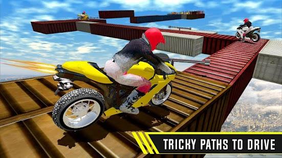 Moto Racer Bike : Impossible Track Stunt 3D Game - náhled