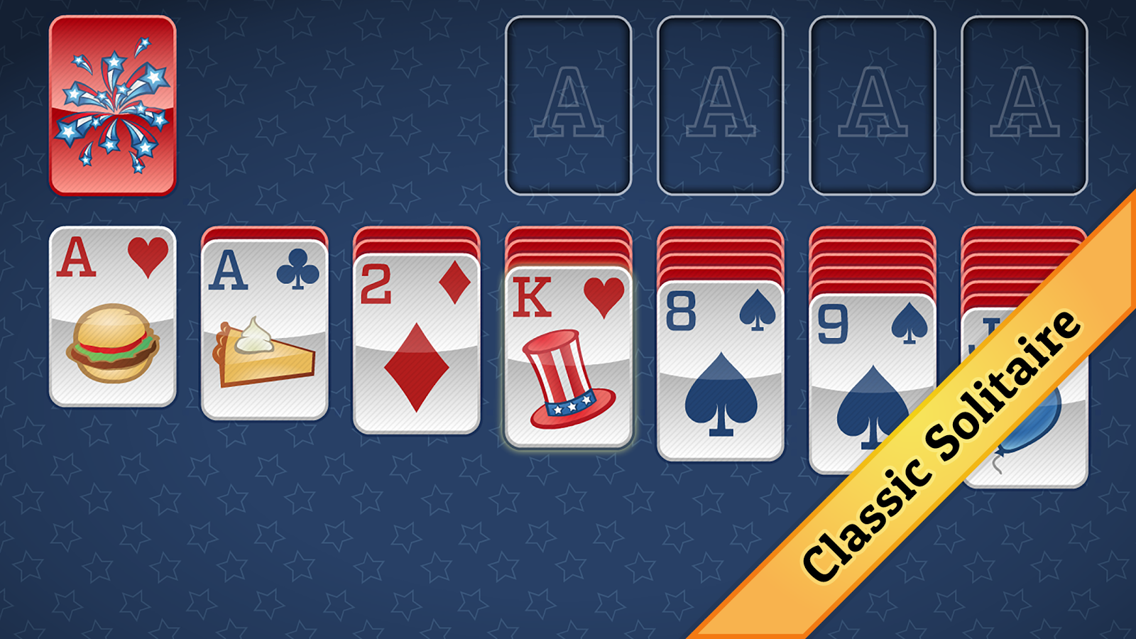 4 july solitaire card game