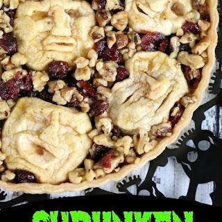 Shrunken Heads Halloween Apple Cranberry Walnut Tart Recipe